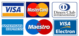 Aceptamos pago con tarjeta de crédito y débito